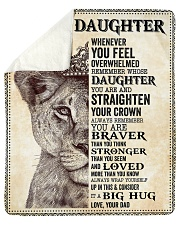 "Daughter Lion Remember Straighten Your Crown Sherpa Fleece Blanket - 50"" x 60"" thumbnail"