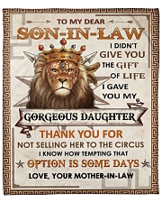 "I Didn't Give U The Gift - Lion To Son-In-Law  Fleece Blanket - 50"" x 60"" front"