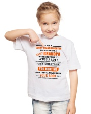 I Am Lucky Granddaughter Youth T-Shirt lifestyle-youth-tshirt-front-2