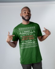 Happy Christmas Day To My Amazing Step-dad Classic T-Shirt apparel-classic-tshirt-lifestyle-front-32