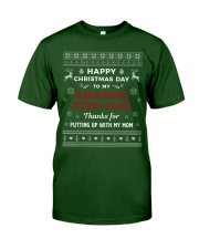 Happy Christmas Day To My Amazing Step-dad Classic T-Shirt front