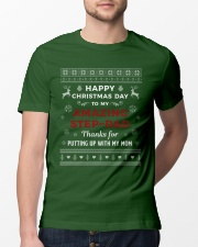 Happy Christmas Day To My Amazing Step-dad Classic T-Shirt lifestyle-mens-crewneck-front-13