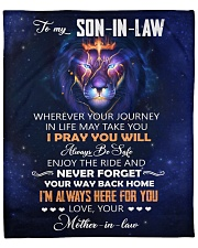 """Wherever Journey In Life Lion MIL To Son-In-Law  Fleece Blanket - 50"""" x 60"""" front"""