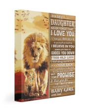 Lion- Never Forget That I Love You Dad-To-Daughter 11x14 Gallery Wrapped Canvas Prints front