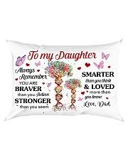 Remember U Are Braver Than U Believe Dad-Daughter Rectangular Pillowcase front