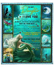 """Daughter Mermaid Never Forget That I Love You Fleece Blanket - 50"""" x 60"""" front"""