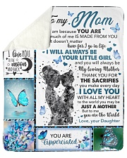 """Mom Butterfly You'll Always Be My Loving Mother Sherpa Fleece Blanket - 50"""" x 60"""" thumbnail"""