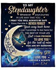 "Stepdaughter Half Moon Promise To Love U 4The Rest Fleece Blanket - 50"" x 60"" front"