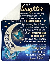"""Stepdaughter Half Moon Promise To Love U 4The Rest Sherpa Fleece Blanket - 50"""" x 60"""" thumbnail"""