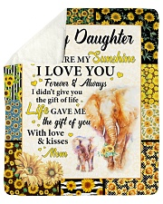 Elephant-U R My Sunshine I Love U-Mom-To-Daughter Sherpa Fleece Blanket tile
