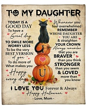 """Halloween Today Is A Good Day Mom To Daughter Fleece Blanket - 50"""" x 60"""" front"""