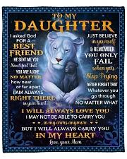 "I Asked God For A Best Friend Lion Mom To Daughter Fleece Blanket - 50"" x 60"" front"