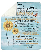 "Never Forget That I Love U Dad To Daughter Sherpa Fleece Blanket - 50"" x 60"" thumbnail"
