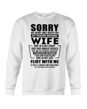 My Heart Only Beats For My Freakin Awesome Wife Crewneck Sweatshirt thumbnail