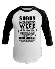 My Heart Only Beats For My Freakin Awesome Wife Baseball Tee thumbnail