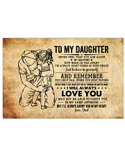 Never Feel That U Are Alone Dad To Daughter Horizontal Poster tile