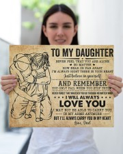 Never Feel That U Are Alone Dad To Daughter 14x11 Gallery Wrapped Canvas Prints aos-canvas-pgw-14x11-lifestyle-front-25