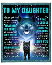 """Never Feel That U Are Alone Wolf Dad To Daughter Fleece Blanket - 50"""" x 60"""" front"""