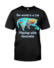 Cat World Map Classic T-Shirt front