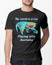 Cat World Map Classic T-Shirt lifestyle-mens-crewneck-front-13