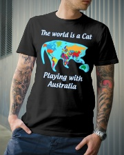 Cat World Map Classic T-Shirt lifestyle-mens-crewneck-front-6