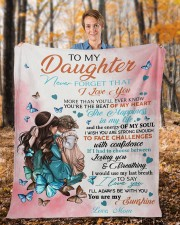"""Never Forget That I Love You Mom To Daughter Fleece Blanket - 50"""" x 60"""" aos-coral-fleece-blanket-50x60-lifestyle-front-01b"""