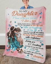 """Never Forget That I Love You Mom To Daughter Fleece Blanket - 50"""" x 60"""" aos-coral-fleece-blanket-50x60-lifestyle-front-02a"""