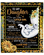 """Elephant- Once upon a time Mom-To-Daughter Fleece Blanket - 50"""" x 60"""" front"""