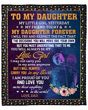 """Little Girl Yesterday Friend Today-Dad To Daughter Fleece Blanket - 50"""" x 60"""" front"""