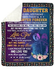 """Little Girl Yesterday Friend Today-Dad To Daughter Sherpa Fleece Blanket - 50"""" x 60"""" thumbnail"""