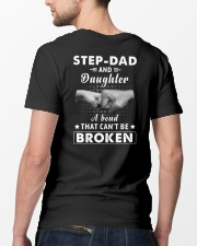 Step Dad And Daughter A Bond That Can't Be Broken Classic T-Shirt lifestyle-mens-crewneck-back-5