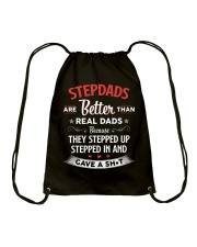 Stepdads Are Better Than Real Dads Drawstring Bag thumbnail