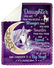 U Are Braver Than U Believe Unicorn To Daughter Sherpa Fleece Blanket tile