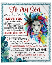 "Never Forget That I Love U Dad To Son Fleece Blanket - 50"" x 60"" front"
