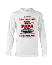 Je Suis Une Fille Chanceuse Que J'ai Un Fou Papa  Long Sleeve Tee tile