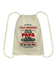 Je Suis Une Fille Chanceuse Que J'ai Un Fou Papa  Drawstring Bag tile