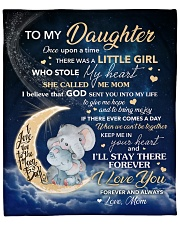 """Moon Elephant Once Upon A Time Mom To Daughter Fleece Blanket - 50"""" x 60"""" front"""