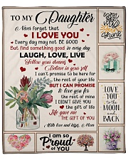 """Naver forget that I Love you - Mom to Daughter Fleece Blanket - 50"""" x 60"""" front"""