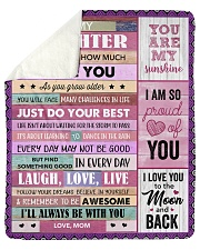 Never Forget How Much I Love U Mom To Daughter Sherpa Fleece Blanket tile
