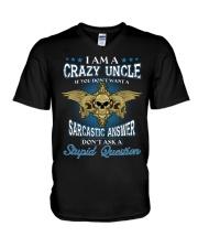 I Am A Crazy Uncle V-Neck T-Shirt thumbnail
