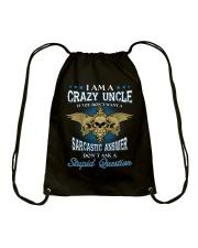 I Am A Crazy Uncle Drawstring Bag thumbnail