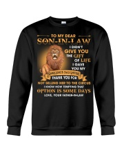To My Dear Son-In-Law From Father-in-law Crewneck Sweatshirt thumbnail