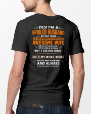 Spoiled Husband Of A Freaking Awesome Wife Classic T-Shirt lifestyle-mens-crewneck-back-5