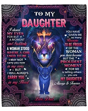 """I Closed My Eyes For But A Moment Dad To Daughter Fleece Blanket - 50"""" x 60"""" front"""