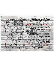 I Want U To Believe In Your Heart-Dad To Daughter Horizontal Poster tile