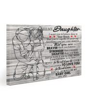 I Want U To Believe In Your Heart-Dad To Daughter Gallery Wrapped Canvas Prints tile