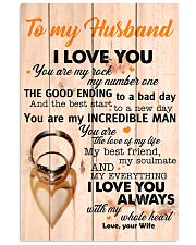 To My Husband You Are The Love Of My Life I Love U 11x17 Poster front