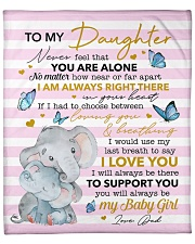 """Never Feel U Are Alone Elephants Dad To Daughter Fleece Blanket - 50"""" x 60"""" front"""