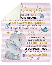 """Never Feel U Are Alone Elephants Dad To Daughter Sherpa Fleece Blanket - 50"""" x 60"""" thumbnail"""