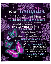 """Inside This Blanket Is A Piece Mom To Daughter Fleece Blanket - 50"""" x 60"""" front"""